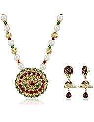 Sia Art Jewellery Pearl Jewellery Set For Women (Golden) (AZ2040)