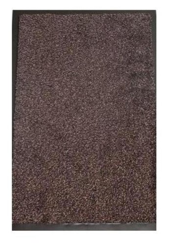 Washamat Dark Brown Mat Size: 90cm x 150cm