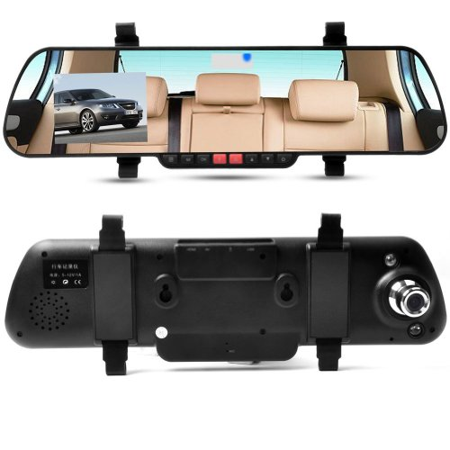 "E-Prance 2.7"" Lcd Car Rear View Mirror Dvr With 1920*1080P + 162 Degree Ultra Wide Angle + G-Sensor + Motion Detection + Sos + Ir Night Vision"