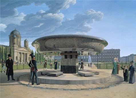 Oil Painting 'Johann Erdmann Hummel-The Granite Dish In The Berlin Lustgarten,1831' 30 x 42 inch / 76 x 106 cm , on High Definition HD canvas prints, gifts for Foyer, Home Theater And Powder R decor (Carrel Dishes compare prices)