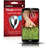 MediaDevil LG G2 Screen Protector: Magicscreen Crystal Clear (Invisible) Edition - (2 x Protectors)
