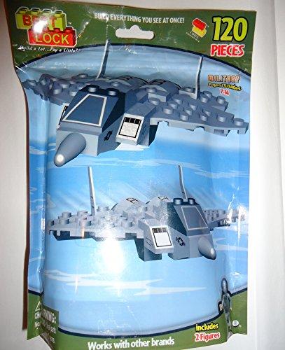 Best Lock Building Set Military Planes Includes 2 Figures 120 Pcs