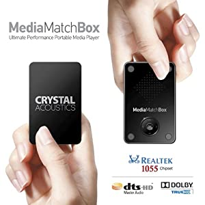 Match Box Media Player. The Perfect Gift, Crystal Acoustics MM-BOX-US Ultimate Performance Portable Media. The only one with Realtek 1055 chipset and HD Audio, in credit card size