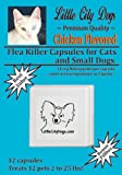 Flea Killer Capsules for Cats and Small Dogs - 12 Mg Nitenpyram Per Capsule ...Same Active Ingredient As Capstar - 12 Capsules Treats 12 Pets 2 to 25 lbs