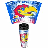 NCAA Kansas Jayhawks 16-Ounce Travel Mug at Amazon.com
