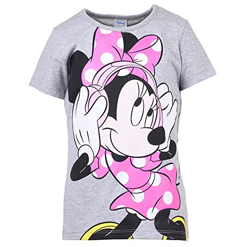 DISNEY Ragazze Topolina/Minnie Mouse Maglietta, grigio chiaro mélange, taglia 152, 12 anni