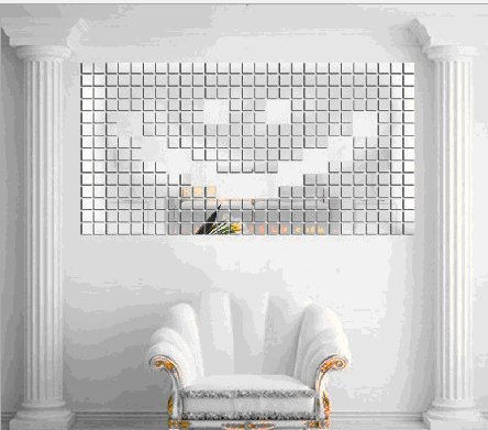 ColorfulHall Squares Mosaic Mirror ceiling room Acrylic Mirror 3d wall decal wall sticker - 1