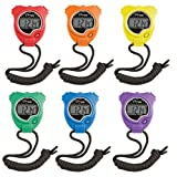 Champion Sports Stopwatch (6 Set), Assorted, 2 x 3