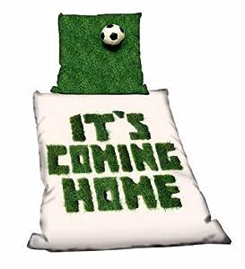 COMING HOME Fanartikel Bettwäsche Linon für Fussballfans mit Reißverschluss