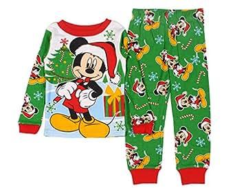 Amazon com disney mickey mouse littler boys 2 piece cotton christmas