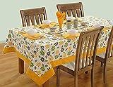 Swayam Libra Printed Cotton 4 Seater Table sheet - Yellow (RDS16-60X60-5203)