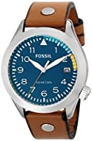Fossil Men's AM4554 Aeroflite Analog Display Analog Quartz Brown Watch from Fossil