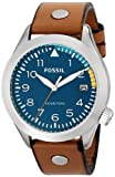 Fossil Mens AM4554 Aeroflite Analog Display Analog Quartz Brown Watch