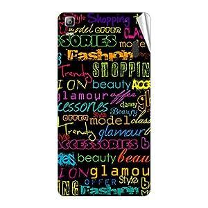 Garmor Designer Mobile Skin Sticker For Lenovo A7000 - Mobile Sticker