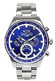 [シャルルホーゲル]Charles Vogele 腕時計 ウォッチ クロノグラフ ビジネス カジュアル 10気圧防水 ブルー メンズ [並行輸入品]