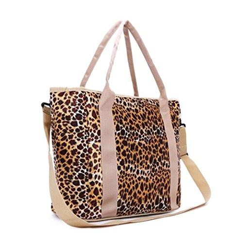 Baby Diaper Bag Nappy Tote Messenger Changing Bag (Leopard)
