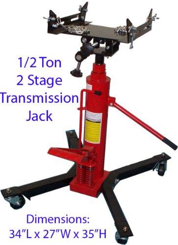 1/2 Ton Hydraulic Transmission Jack Lift Telescopic 2 Stage 1000 Lb Capacity