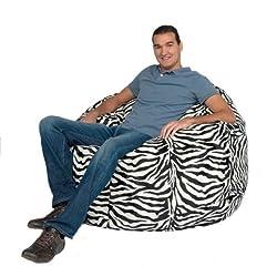 Cozy Sack Bean Bag Chair Zebra Print - Large 4