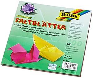 Folia 8920 - Faltblätter 70 g/m², 20 x 20  cm, 100 Blatt, sortiert in 10 Farben