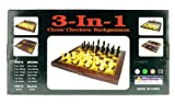51wfIgjIV1L. SL160  3 In 1 Chess/Checkers/Backgammon Game Set