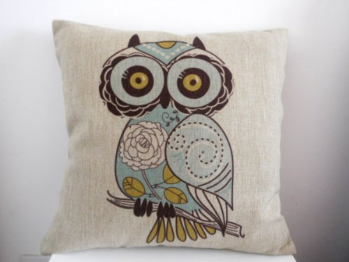 Best Review Of Decorbox Cotton Linen Square Decorative Throw Pillow Case Cushion Cover Cartoon Green...