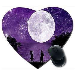 Awwsme Blue Sky And Moon Heart Mousepad