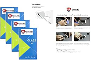Kronus (Pack Of 4) Tempered Glass Screen Protector For Samsung Galaxy Alpha G850||2.d D Curved Edged Glass||Reusable Packaging|| Perfect Fit||Oil Coated|