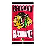 NHL Chicago Blackhawks Beach Towel, Team Color, One Size