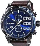 Diesel Herren-Armbanduhr XL Chronograph Quarz Leder DZ4312