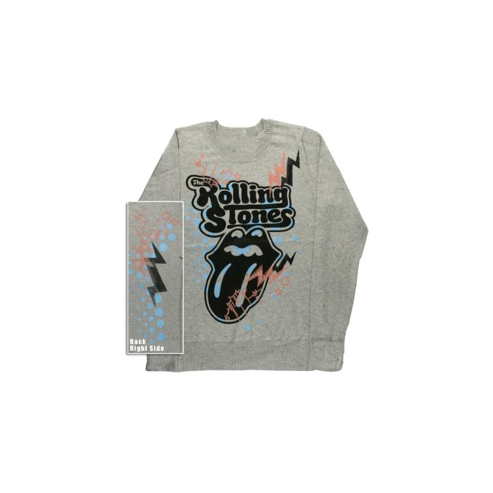 Rolling Stones   Tongue Ladies Crew Neck Sweater