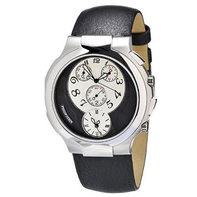 Philip Stein Women's 9-CRS3-CB Quartz Analog Dual Time Chronograph Watch by Philip Stein