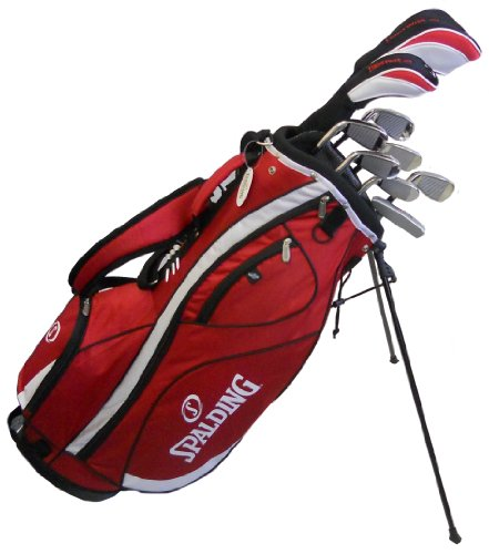 Spalding AF14 Mens Golf Club Set with Red Stand Bag (Right Hand-Graphite)