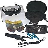Sport Style Sunglasses Kit: 5 Lens. UV400 with Polarized Lens, Optical Insert.
