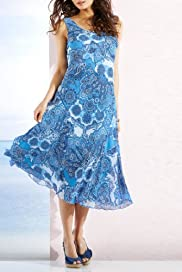 Per Una Sleeveless Paisley Dress [T62-9640G-S]