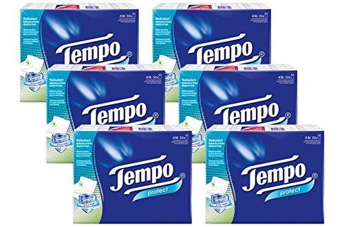 """Fazzoletti Tempo """"Protect"""" 30 x 9 asciugamani, 6-pack (180 pacchetti)"""