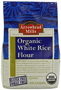 Amazon.com : Arrowhead Mills White Organic Rice Flour, 32