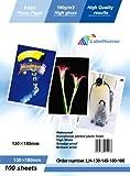 LabelOcean Premium Fotopapier 100 Blatt 13x18 cm 180g/qm Highglossy hochglänzend wasserfest