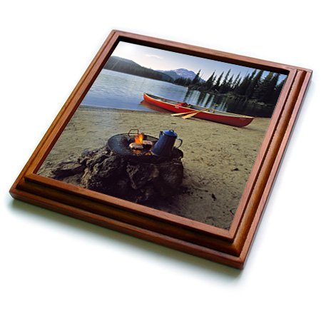Trv_94002_1 Danita Delimont - Camping - Oregon, Sparks Lake. Camping Near Bend - Us38 Rer0030 - Ric Ergenbright - Trivets - 8X8 Trivet With 6X6 Ceramic Tile