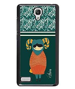 Printvisa 2D Printed Sunsign Aries Designer back case cover for Xiaomi Redmi Note 4 / 4G - D4408