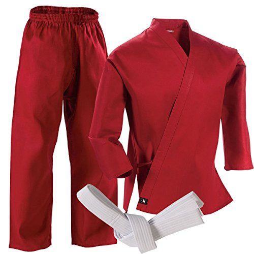 Century Martial Arts Middleweight Student Uniform with Elastic Pant - Red, 5 - Adult Large (Red Belt Martial Arts compare prices)