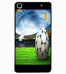 ColourCraft Football Design Back Case Cover for LENOVO K3 NOTE