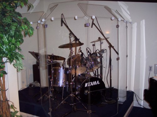 Drum Shield Ds6D Comes With Six Panels 2Ftx5Ft With Deflectors Total Height 6Ft