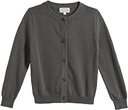 City Threads Girls\' Crew Cardigan Sweater - Gray - 4T