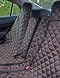 tierlando® Autoschondecke, Autoschutzdecke, Hundedecke, mit Reißverschluß teilbar, 200 x 140 cm, Braun - SMR-200-01