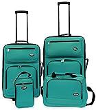 Hercules Jetlite 4-pc. Seafoam Upright Luggage Set One Size Seafoam blue