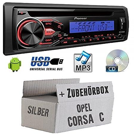 OPEL CORSA C Argent-Pioneer deh1800ubb-Kit de montage autoradio CD/MP3/USB -