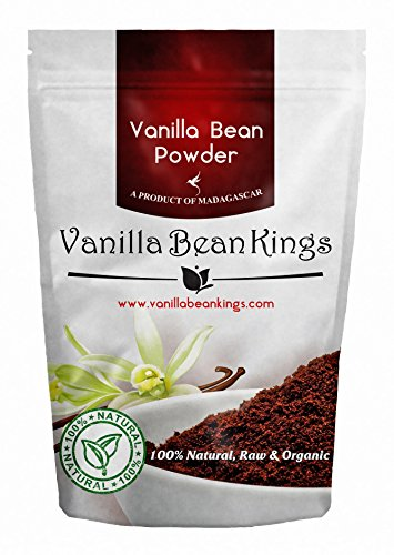 Organic Vanilla Bean Powder, 4.41 Oz, Raw Ground Vanilla Beans, Unsweeted, Non GMO, Gluten-Free - Freshly Ground Before Packaging
