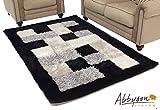 Abbyson Living Kovili Shag Rug (Black/White/Gray/Silver) - 6'W x 9'L