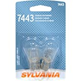 SYLVANIA 7443 Basic Miniature Bulb, (Contains 2 Bulbs)