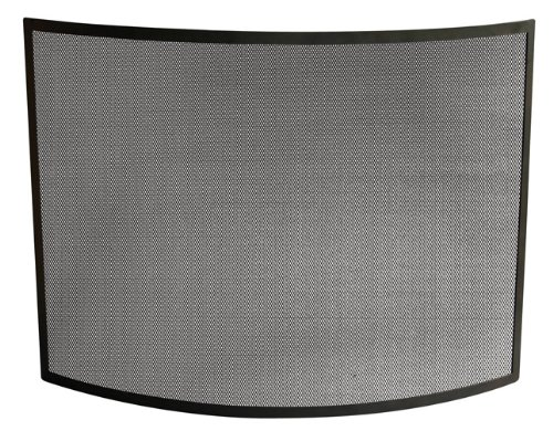 Uniflame Single Panel Curved Black Wrought Iron